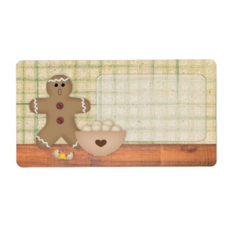 Gingerbread Man Oops Label