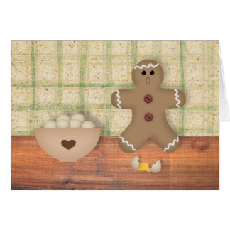 """Gingerbread Man """"Oops"""" Note Card"""