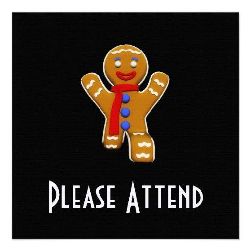 Gingerbread Man - Perfect Landing Custom Invites