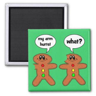 gingerbread man refrigerator magnets