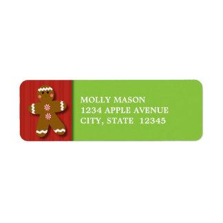 Gingerbread Man Return Address Labels
