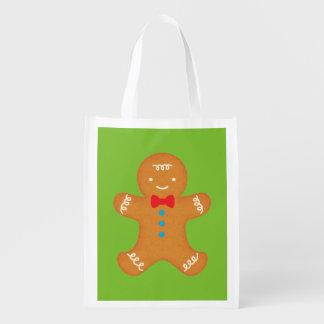 Gingerbread Man Reusable Grocery Bag