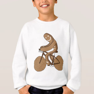 Gingerbread Man Riding Bike With Gingersnap Cookie Sweatshirt