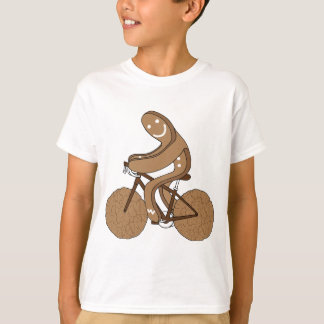 Gingerbread Man Riding Bike With Gingersnap Cookie T-Shirt
