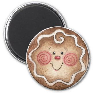 Gingerbread Man Round Magnet