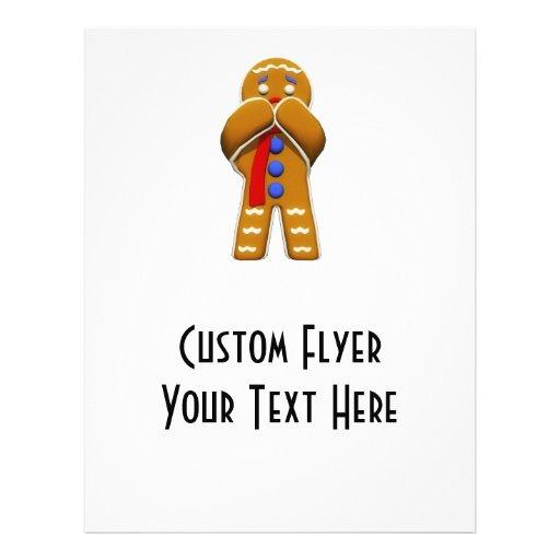 Gingerbread Man - Scared - Original Colors Flyer Design