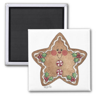 Gingerbread Man Star Magnet