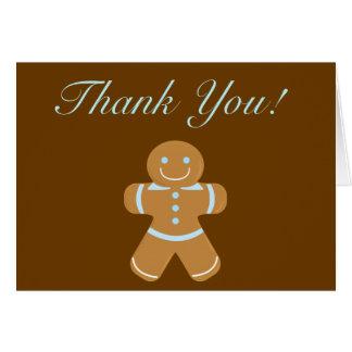 Gingerbread Man thank you Card