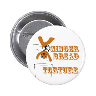 Gingerbread Man Torture Bizarre Humor Pin