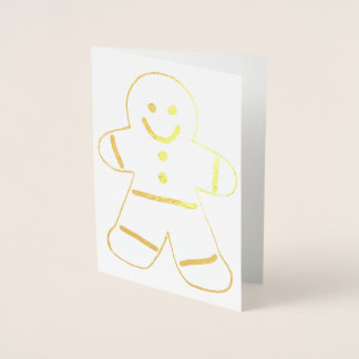 Gingerbread Man with Clothing Cookie Foil Card