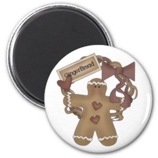 Gingerbread Man Wreath Magnet