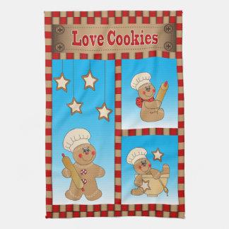Gingerbread Men Bakers Love Cookies Tea Towel