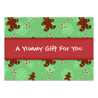 Gingerbread Men & Candy Canes Gift Tag Pack Of Chubby Business Cards