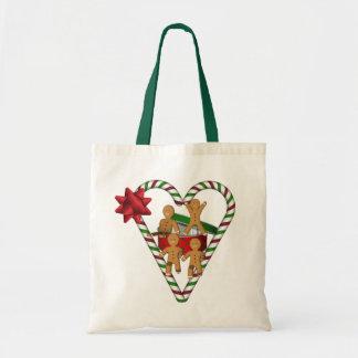 Gingerbread Men Christmas Holiday Budget Tote Bag
