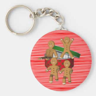 Gingerbread Men Christmas Holiday Keychain