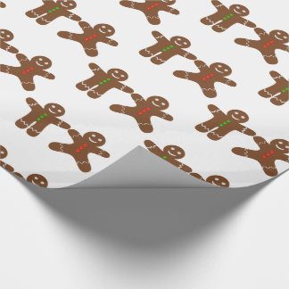 Gingerbread Men Cookie Pattern Wrapping Paper