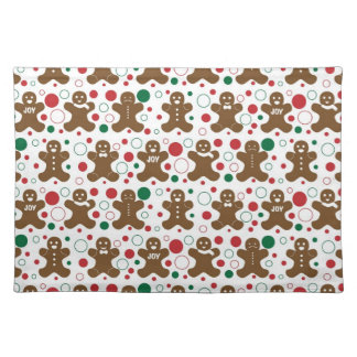 Gingerbread Men Holiday Pattern Place Mats