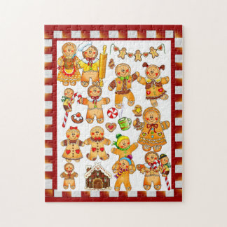 Gingerbread Men Jigsaw Puzzle