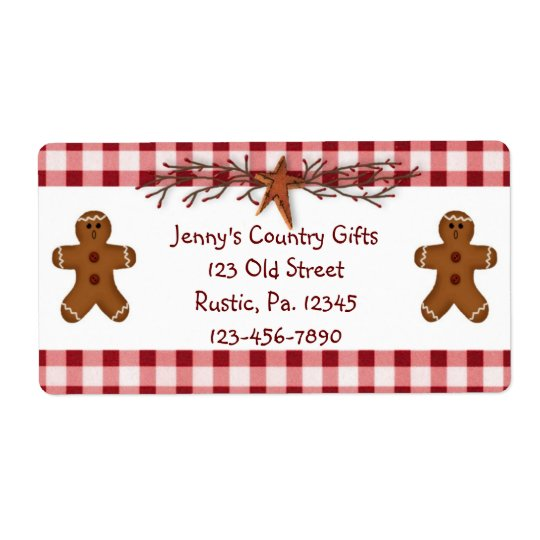 Gingerbread Men Label Shipping Label