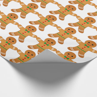 Gingerbread men pattern - Christmas Wrapping paper