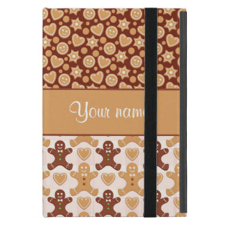 Gingerbread Men, Smiley Faces and Hearts Cover For iPad Mini