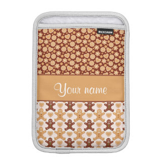 Gingerbread Men, Smiley Faces and Hearts iPad Mini Sleeve