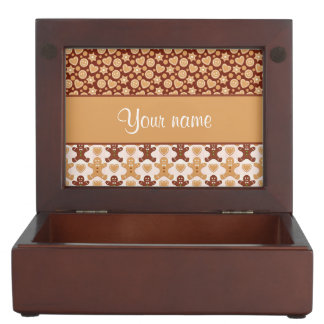 Gingerbread Men, Smiley Faces and Hearts Keepsake Box