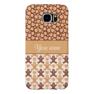Gingerbread Men, Smiley Faces and Hearts Samsung Galaxy S6 Cases