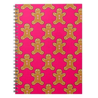 Gingerbread Men Spiral Notebook