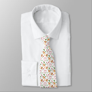 Gingerbread & Peppermint Candy Christmas Tie