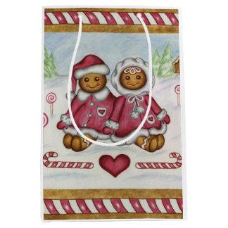 Gingerbread Peppermint Gift Bag
