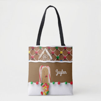 Gingerbread Personalized Tote Bag