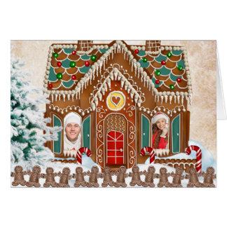 Gingerbread Photo Christmas Card