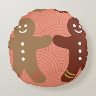 gingerbread Polyester Round pillow