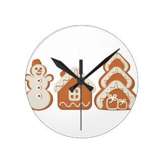 gingerbread round clock