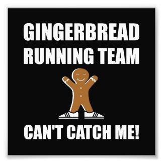 Gingerbread Running Team Photographic Print
