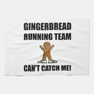 Gingerbread Running Team Tea Towel