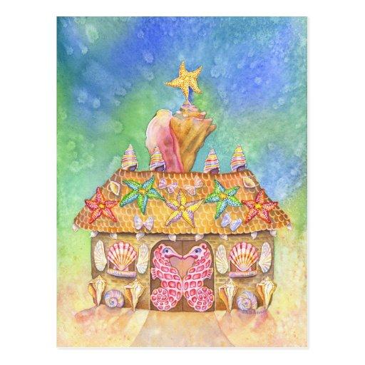 Gingerbread SeaCasa Postcards