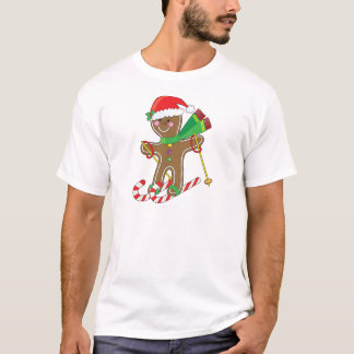 Gingerbread Skier T-Shirt