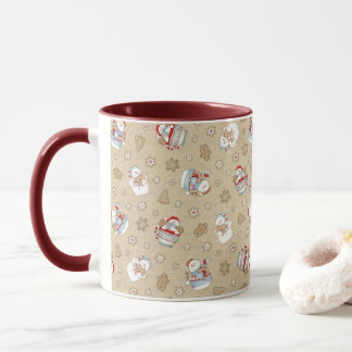 Gingerbread Snowman Pattern Mug