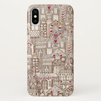 gingerbread town iPhone x case