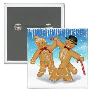 Gingerbread Trio 15 Cm Square Badge