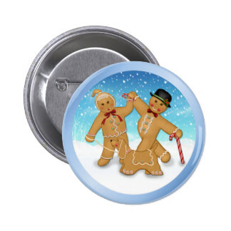 Gingerbread Trio 6 Cm Round Badge
