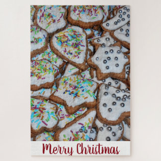 Gingerbread With Sugar Glazing For Christmas Jigsaw Puzzle