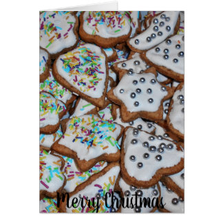 Gingerbread With Sugar Glazing Merry Christmas Card