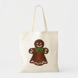 Gingerbread Woman Lady Christmas Cookie Xmas Bag