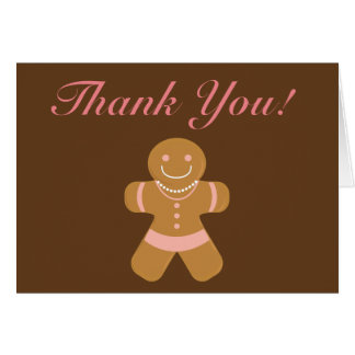 Gingerbread Woman thank you card