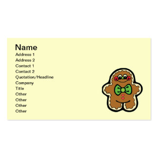 gingerbreadman 001PR CUTE COOKIES WINTER FOODS TRE Pack Of Standard Business Cards