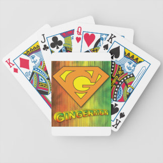 Gingermon Bicycle Playing Cards