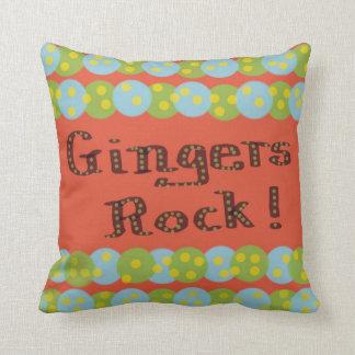 """Gingers Rock!"" American MoJo Pillows"